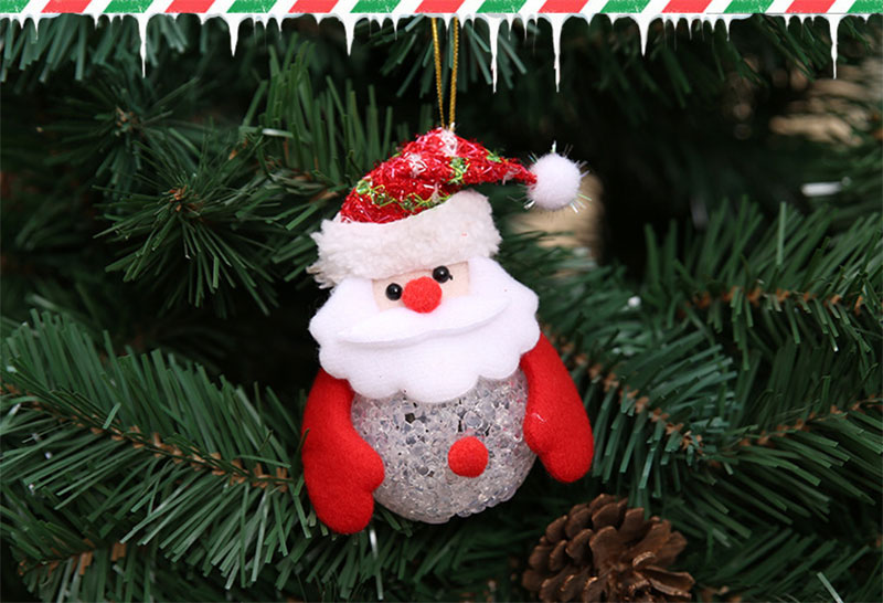 New Year Christmas Decoration for Home accessories Glowing EVA Snowman Nightlight Snowman Christmas Tree gifts Navidad Natal (19)
