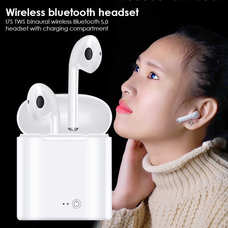 i7s tws Wireless Bluetooth Earphones Headphones Binaural Stereo Headset Gaming sport Handsfree Earbuds with Mic for phone