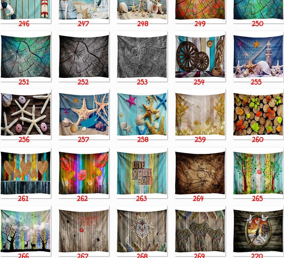 pendurado psicodélico arco-íris cachoeira montanha animal tapeçaria boho decoração da parede pano
