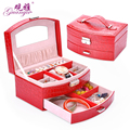 High Quality Jewelry Box Casket Box For Jewelry Exquisite Makeup Case Jewelry Organizer Graduation Birthday Gift for Girl