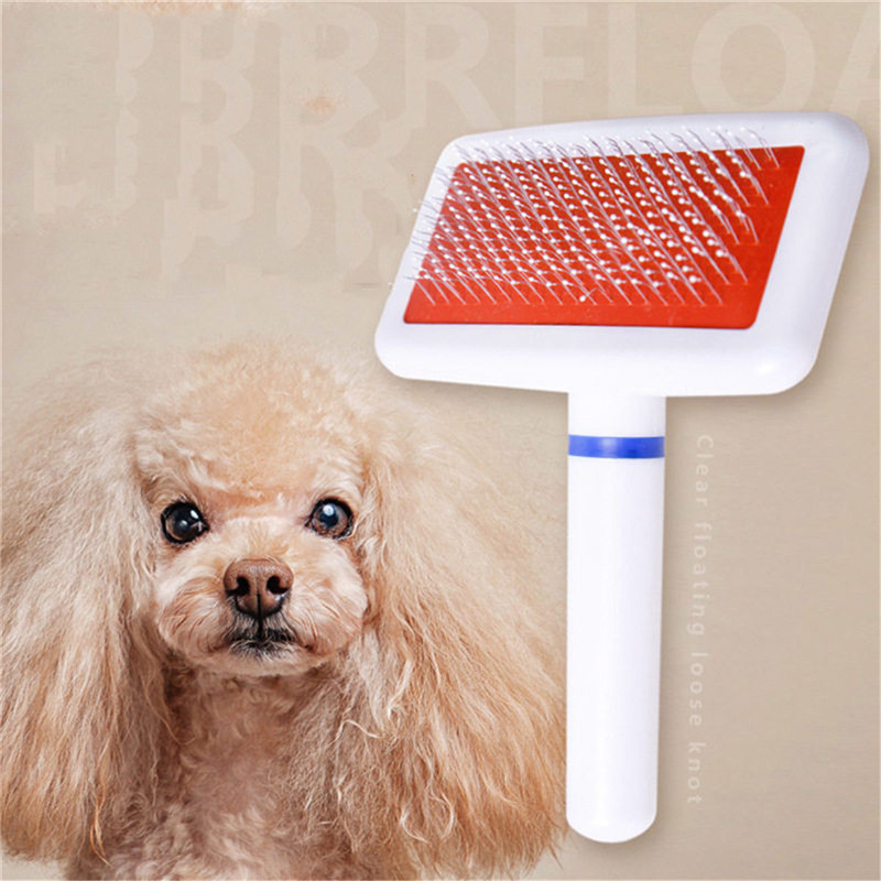 1PC Pet Grooming Comb Wooden Handle Needle Comb For Hair Pet Brush Beauty Brush Dog Rake Comb Accessories