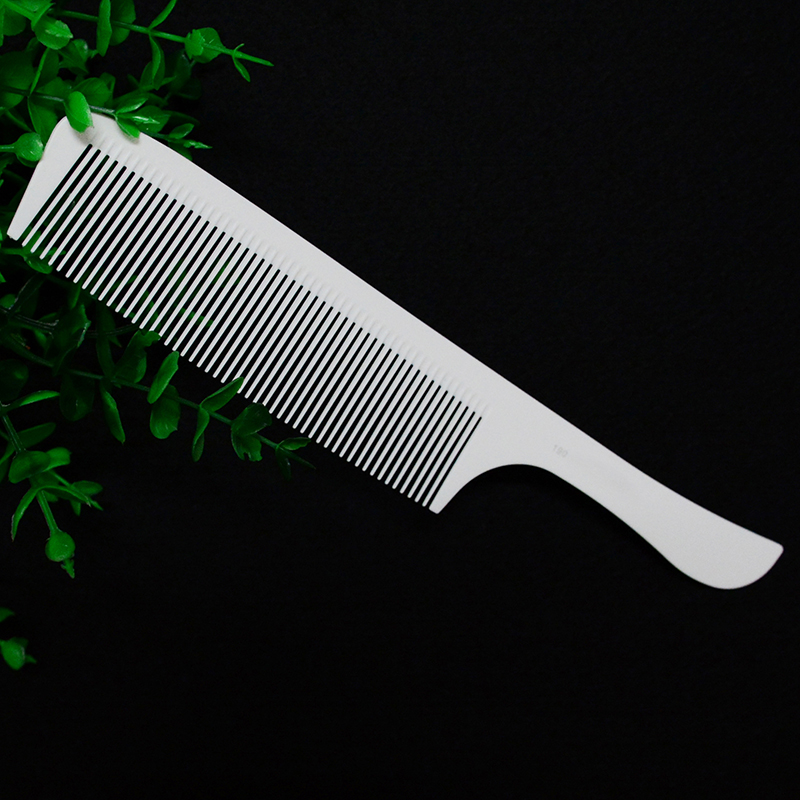 Hairdressing Carbon Ultrathin Flat Head Comb Professional Haircut