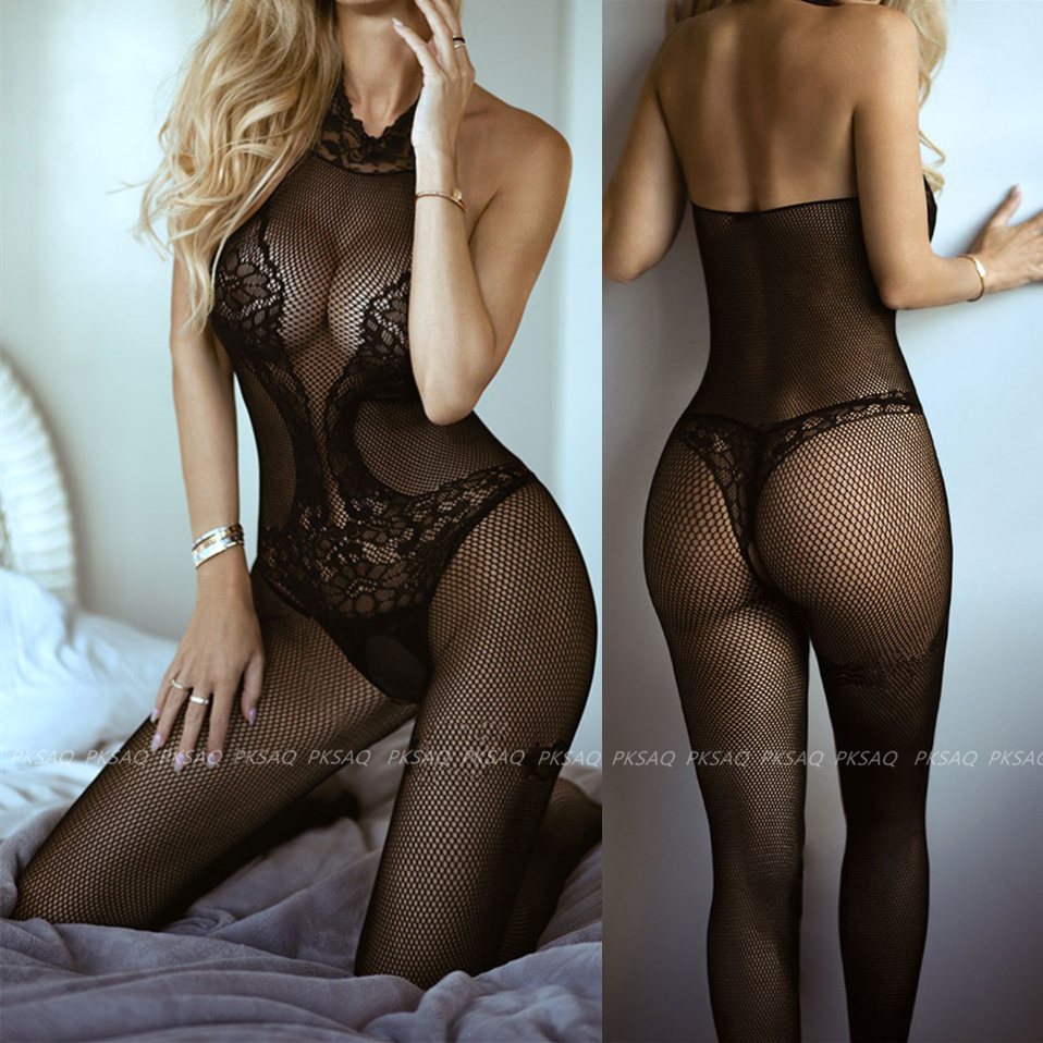 Sexy Open Crotch Fetish Bodystocking Women Erotic Lingerie Porno Babydoll Crotchless Body Suit Underwear Costumes Latex Catsuit
