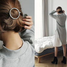 2016Fashion the geometric character of circular triangle eight hairpin a word  clip to female 5 cm