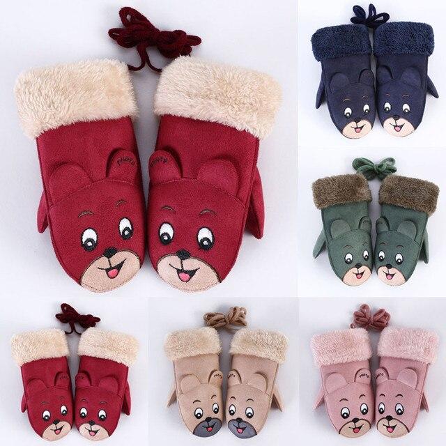 b65da44bd New Baby Winter Gloves Children Girls Boys Twist Full Finger Wrist ...