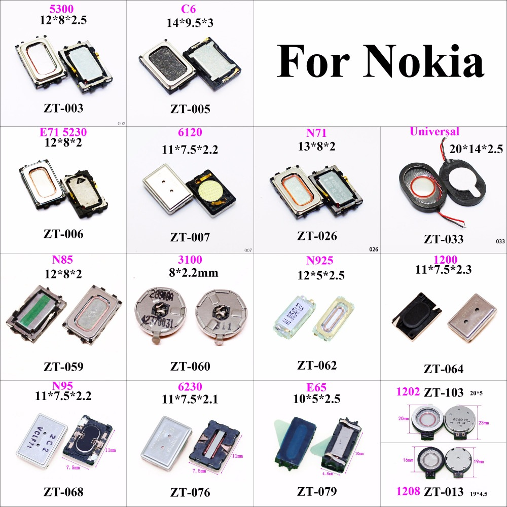 ChengHaoRan 1x Speaker Buzzer Earpiece Ringer For Nokia E71 N85 N925 N73 N95 E65 1208 5300 C6 6120 1606 3100 6230 6288 Phone