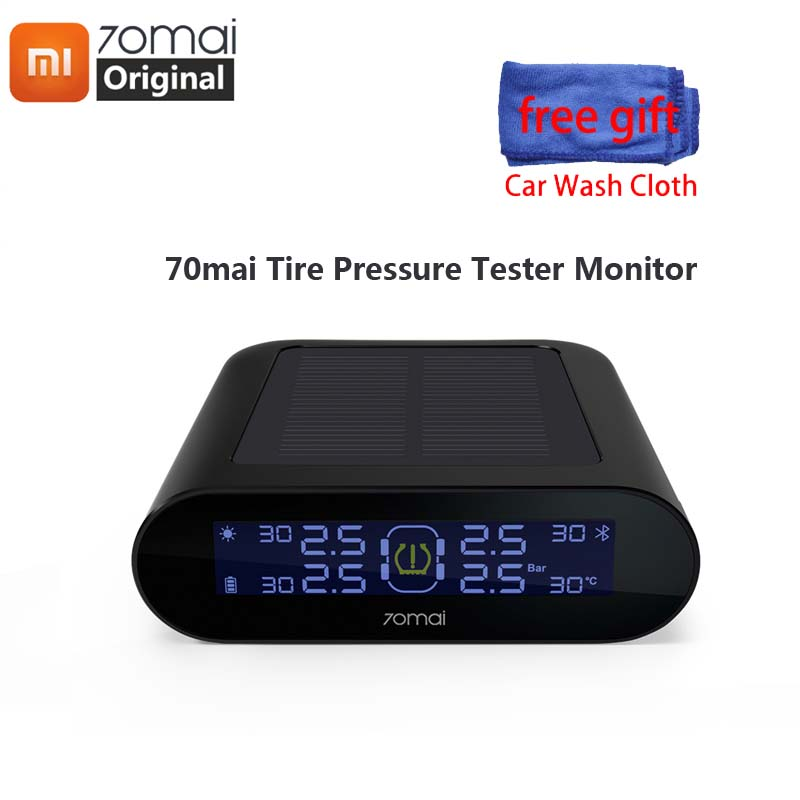 Xiaomi 70mai tpms Tire Pressure Monitor Dual Solar Power USB Charging 70 mai Car TPMS Safe Security 4Built-in With Gauge SensorXiaomi 70mai tpms Tire Pressure Monitor Dual Solar Power USB Charging 70 mai Car TPMS Safe Security 4Built-in With Gauge Sensor