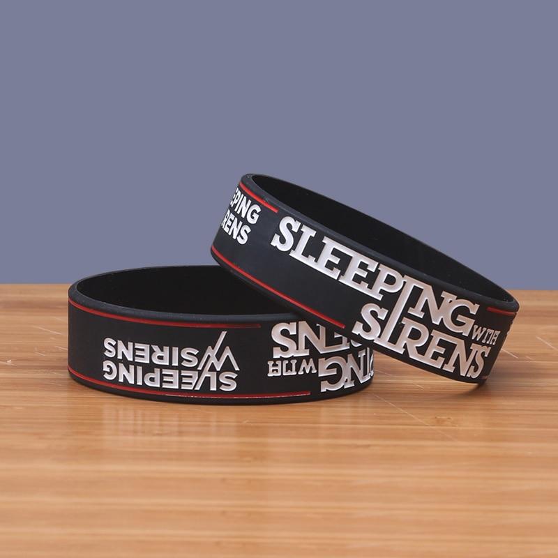 High Quality Sleeping With Sirens Band Silicone Bracelets Tendy Silicon Bileklik Popular Wristband Classic Band