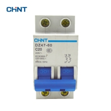 цена на Chint DZ47-60 2P C20 Air Switch Miniature Circuit Breaker DZ47 2P 20A Household Switch Short Circuit Protector