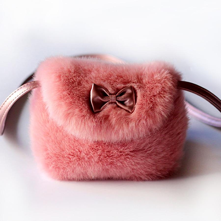 Faux fur plush women coin purse wallets mini shoulder crossbody messengers bags female trousse kawaii kindergarten baby girls