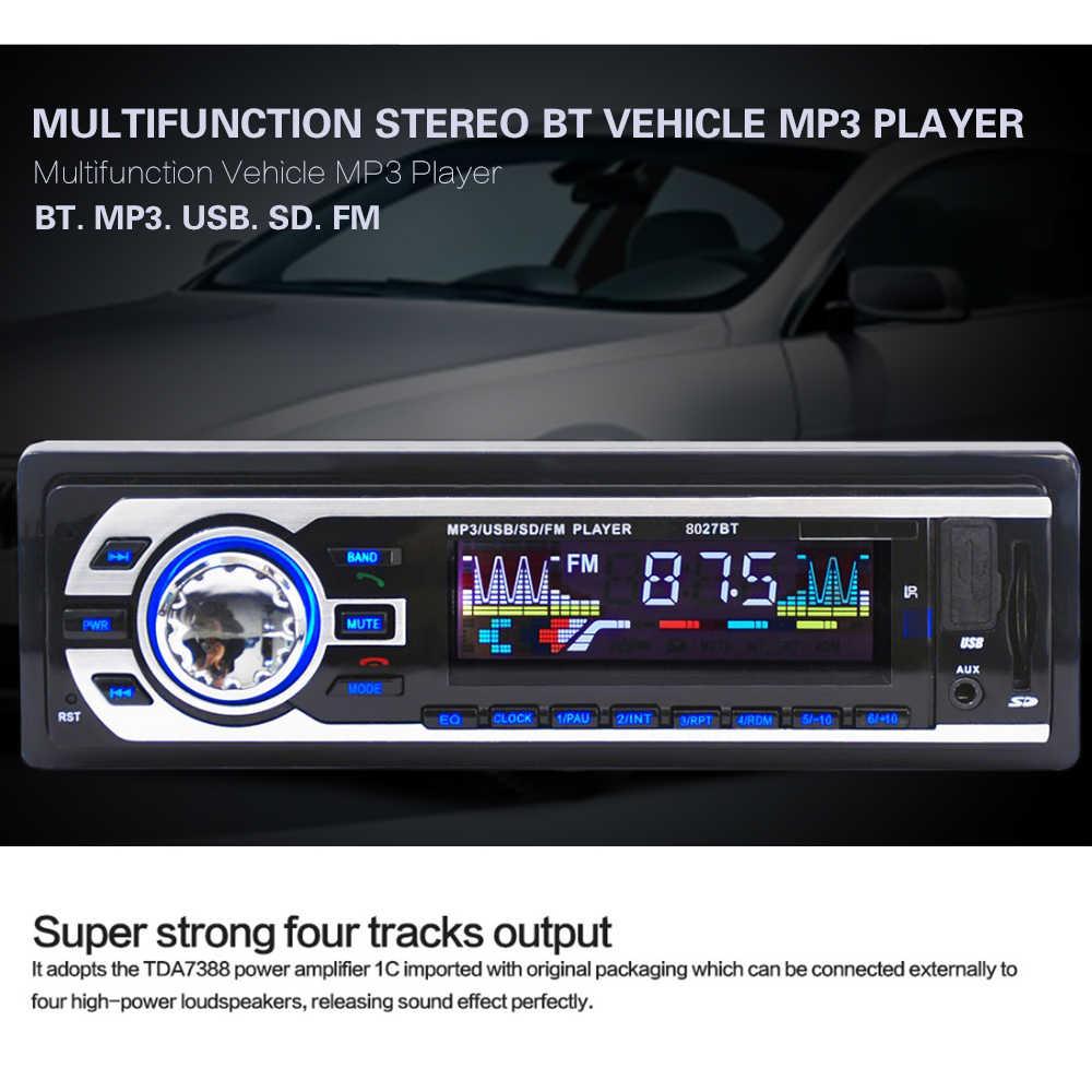JSD-8027BT многофункциональный стерео BT Автомобильный MP3-плеер Автомобильный Радио с fm-передатчиком/USB портом/поддержкой 12 В мультиформатный Aux