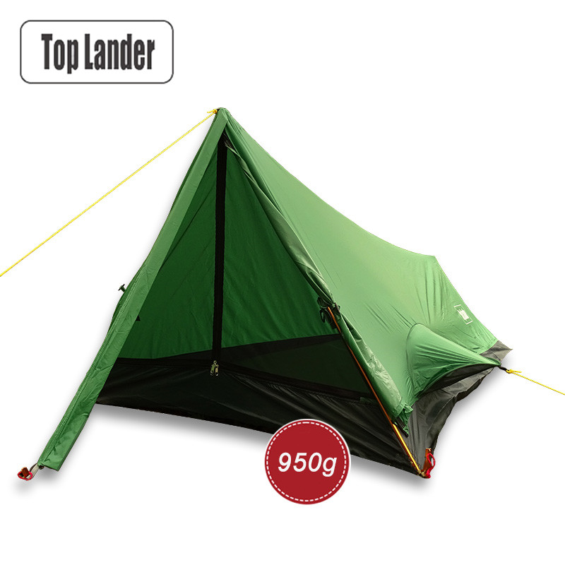 Ultralight Tent 1 Person for Camping Hiking Mountain Backpacking Waterproof Solo Single Bivvy Tent 3 Season 20D Silicone Tent 995g camping inner tent ultralight 3 4 person outdoor 20d nylon sides silicon coating rodless pyramid large tent campin 3 season