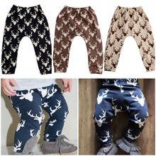 Infant Baby Boys Girls Deer Leggings Harem Pants  Clothes Baby Boys Girls Pants 0-4Y