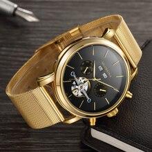 Relojes mecánicos de lujo de marca de lujo de los hombres de los relojes  mecánicos de lujo Tourbillon relojes mecánicos automáti. a1aed055a7e2