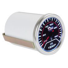 2 52mm 40-150 Universal Degrees Celsius Car Motor Indicator Oil Temp Gauge With Led Display