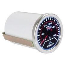 2 52mm 40-150 Universal Degrees Celsius Car Motor Indicator Oil Temp Gauge With Led Display kus boat engine oil temperature gauge marine motor oil temp gauge 50 150 52mm