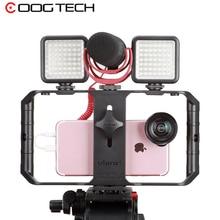 Boîtier de Smartphone de prise de vue vidéo Ulanzi U Rig avec 3 fixations chaudes pour la prise en main de la lumière du Microphone pour BOYA Micro Ulanzi pour facelook live
