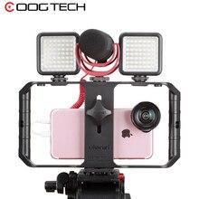 Ulanzi וידאו ירי Smartphone מקרה U Rig עם 3 חם הר עבור מיקרופון אור גריפ BOYA מיקרו Ulanzi עבור facelook חי
