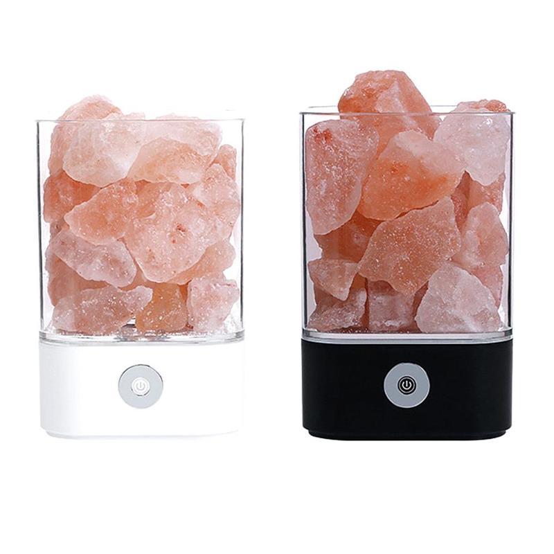 En cristal de Sel Lampe USB LED Éclairage De Nuit D'ions Négatifs Purificateur D'air Intérieur Décoration Maison Saine Creative Cadeau De Chevet Night Light