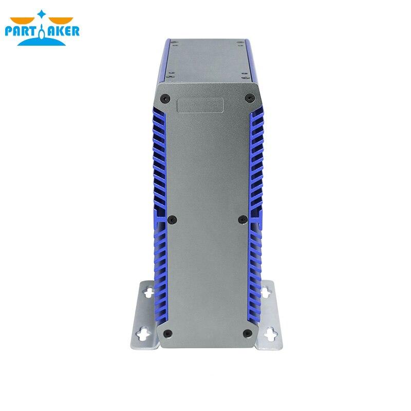 Mini Fanless PC Computer Intel 3865U Dual Core 2 Lan Port DDR4 Mini PC Embedded SIM Slot support WiFi/3G/4G fanless vehicle industrial pc with wifi 3g sim socket lbox 2550