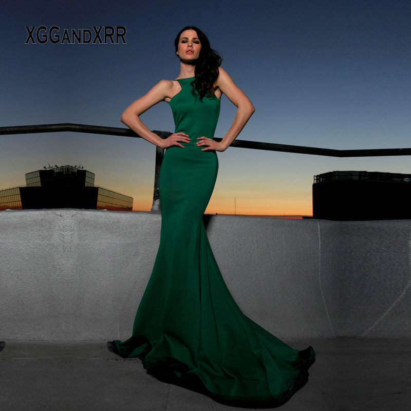 Элегантное, соблазнительное, с открытой спиной вечернее платье зеленого цвета с открытой спиной Длинные Вечеринка платья Бирюзовый Русалк...