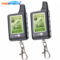 Fodsports Motorcycle Alarm Reminder System Two Way LCD Anti Theft Security Theft Protection Monitoring Range 3500M
