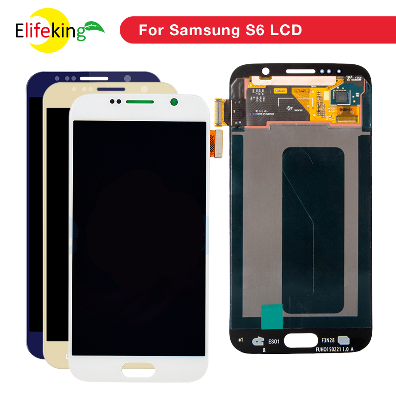 20PCS/Lot 5.1 Super AMOLED LCD S6 G920 G920F Display 100% Tested Working Touch Screen Assembly For Samsung Galaxy S6 G920 20PCS/Lot 5.1 Super AMOLED LCD S6 G920 G920F Display 100% Tested Working Touch Screen Assembly For Samsung Galaxy S6 G920