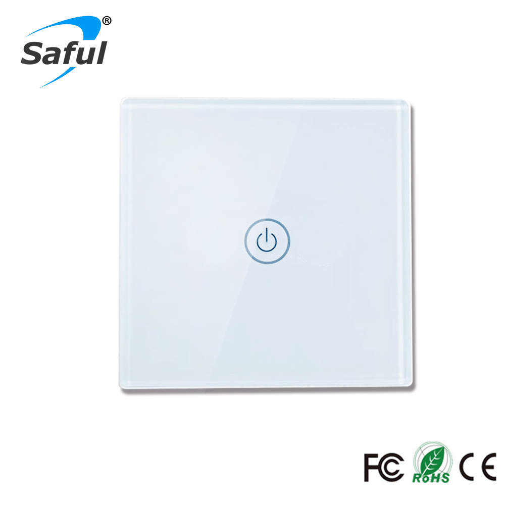 New Arrivals White/Black LED Indicator Light Touch Switch 1 Gang 1 Way Wireless Remote Control Light Switches Interrupter Touch arrivals 1 36kg