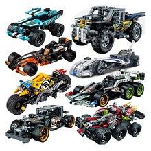 Decool Racer отступить автомобиль техника трактор экскаватор техник строительные блоки кирпичи совместимые legoings малыш игрушки для детей