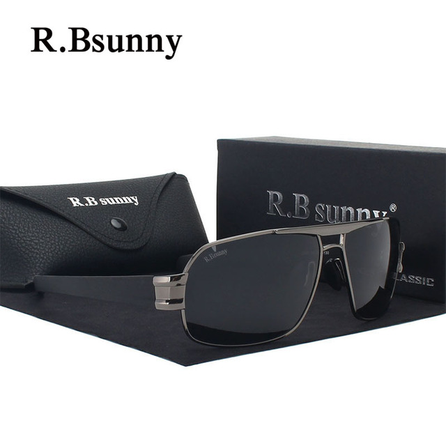 R1607 HD Brand Design Sunglasses  Men  Polarized Fashion Sun glasses Luxury Shades UV400