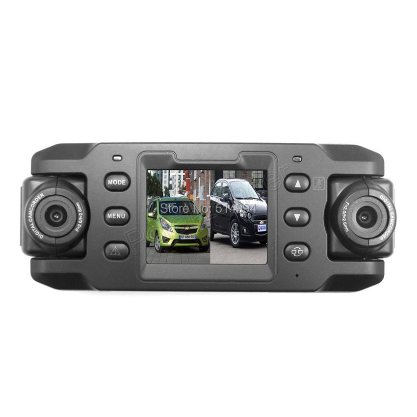2015 hot new dual lens car camera two lens vehicle dvr for New camera 2015