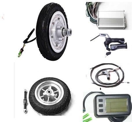8 pouce 400 v 24 v de pièces de rechange de scooter électrique, frein à disque électrique moteur de moyeu de roue, planche à roulettes motorisée