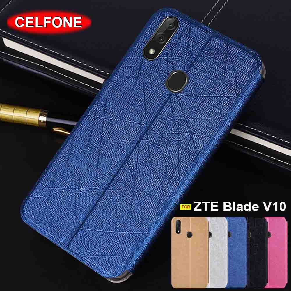ZTE Blade V10 case Slim Zte V10 case Silicone back cover stand leather case for ZTE Blade V9 case flip cover ZTE V8 cover case