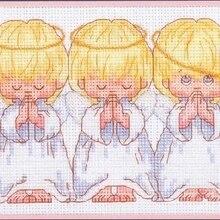 Рукоделие, DMC Вышивка крестом, Набор для вышивания набор, три маленьких Ангела узор Счетный крест, любовь швейный набор свадьба