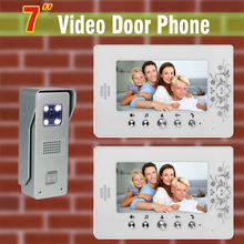 7 inch Screen Video Door Phone Intercom System Aluminum Alloy Camera Video Doorbell Door bell interphone kit