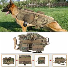 Outdoor Protection 5.111 Army Tactical Dog Vests Military Dog Clothes Load Bearing Harness SWAT Dog Training rescue Molle Vest