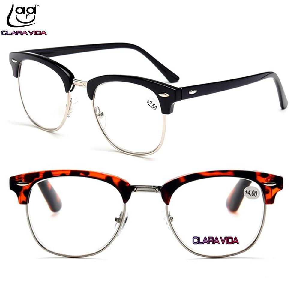 popular glasses styles ujnb  CLARA VIDA = Classic Retro Vintage Rivet Style Handmade Reading Glasses +1  +15