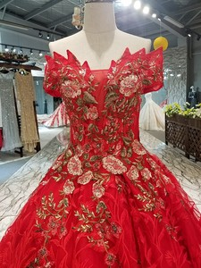 Image 5 - LS00411 1 red brides wedding party dress off the shoulder sweetheart beauty evening dress quick shipping china factory wholesale