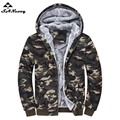 Plus Size 4XL One Color Warm Thick Solid Hoodies Camouflage Jackets Men Brand Tracksuit Sweatshirts New Autumn Winter Style