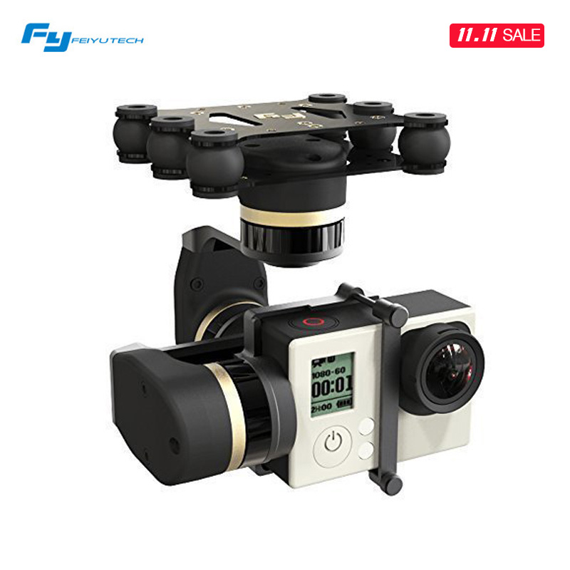 FeiYu FY MINI3D 3 Axis Brushless 3D Gimbal for Gopro Hero 3 4 Aerial Photograrhy for Aircraft iLookPlus Free Shipping new feiyu tech fy wg 3 axis wearable gimbal lightweight for gopro hero 4 3 3 camera photograrhy for aircraft ilookplus