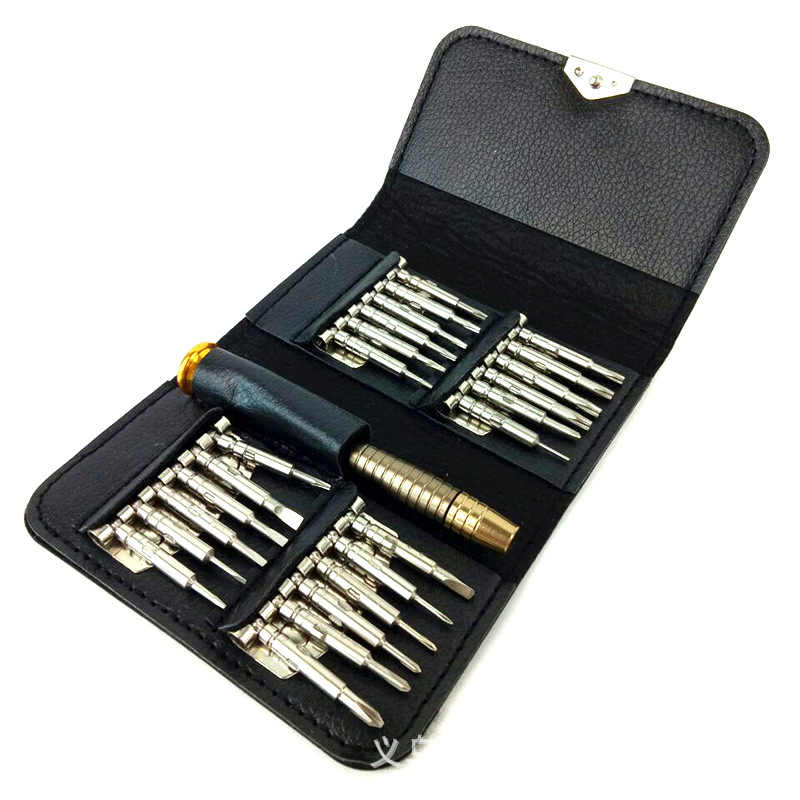 High quality 25pcs screwdriver set disassembly machines multi-function iphone phone digital tool precision torx pocket pen