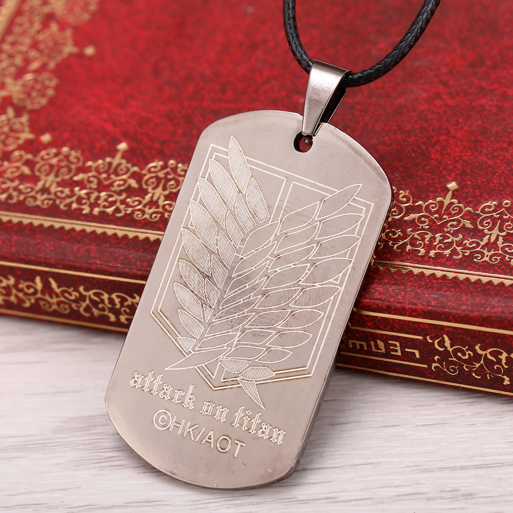 Attack on Titan Titanium Metal Necklace