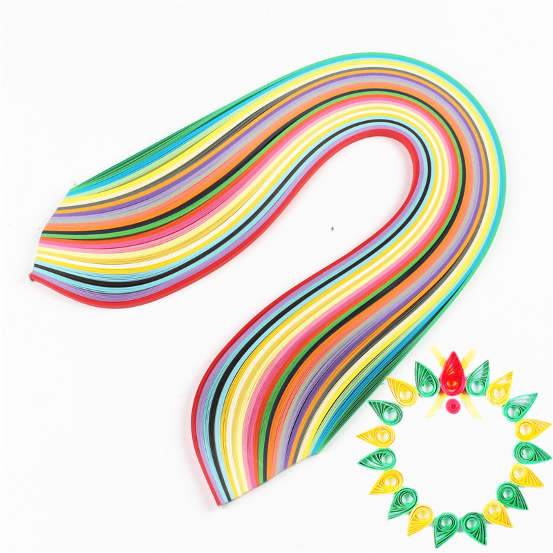 WYSE WYSE 260 ozdoby papierowe paski zestaw 3mm/5mm/7mm/10mm/mm 39cm kwiatowy prezent papier do notatnika aplikator kleju dla DIY zapasy rzemieślniczepaper forpaper for craftspaper decoration -