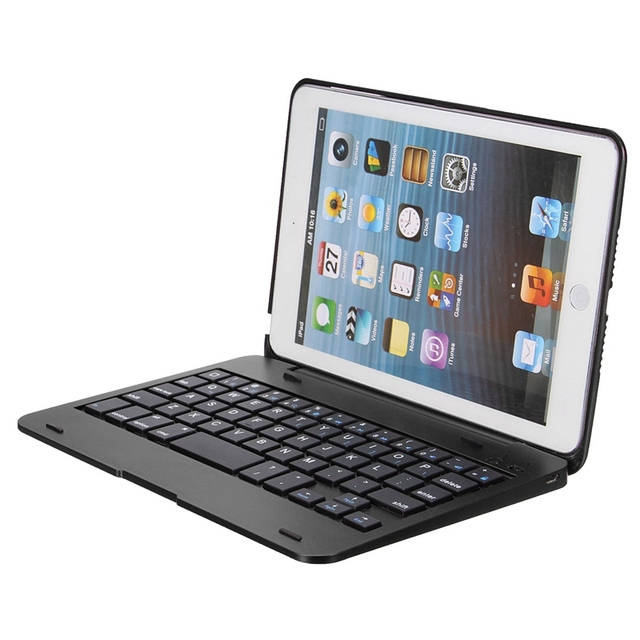 Top promoción a prueba de polvo impermeable 2in1 bluetooth 3.0 wireless keyboard case cubierta del soporte plegable soporte para ipad mini 1 2 3