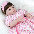 Niña Bebe reborn dolls 22 pulgadas Realista renacer muñecas de silicona de cuerpo completo 55 cm bonecas reborn verdadera Hecha A Mano de silicona inteiro