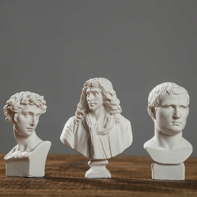 Światowej sławy statua figurka mini Moliere Ares tynk posągi dekoracji wnętrz żywica biust szkic praktyka Model rzeźba rzemiosło