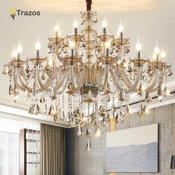 Роскошные хрустальные люстры для гостиной lustre sala обеденный стол хрустальные современные светильники люстры Свадебные украшения
