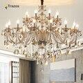 Candelabro de cristal de lujo para sala de estar lustre sala de jantar cristal candelabros modernos decoración de boda