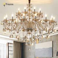 Luxus Kristall kronleuchter Für Wohnzimmer lustre sala de jantar cristal Moderne Kronleuchter Leuchte Hochzeit Dekoration