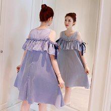 055c9712d3c Одежда для беременных 2018 лето для беременных женское платье Повседневное  Сексуальная V шеи 3 4 рукава однотонное платья Vestid.